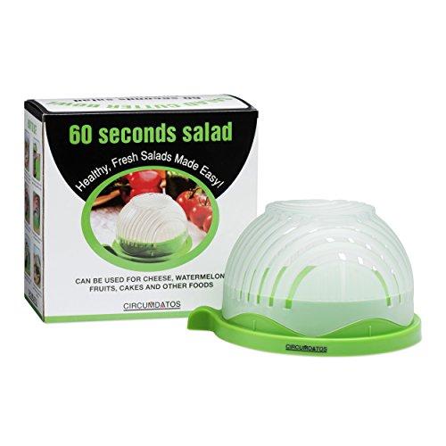 Grande perfetta taglierina insalata insalatiera–57secondo Maker–Taglia verdura e frutta Fast–free affilacoltelli e ricette–Lavare, slice & serve–Veggie Slicer Kitchen gadget–-60secondi