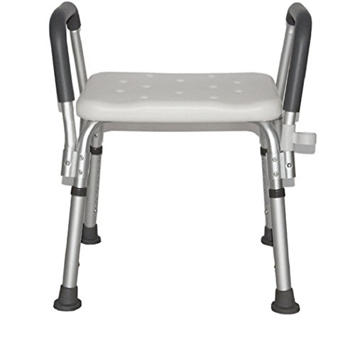 Dusche Verstellbarer Stuhl Edelstahl Höhe Anti-Rutsch-Bad Alter Mann Schwangere Frauen Bad Stuhl Bequem bequem und stabil -