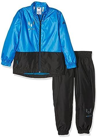 adidas Kinder Messi Trainingsanzug, Shoblu/Black, 170