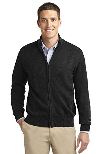 Port Authority Value Full-Zip Mock Neck Sweater. SW303