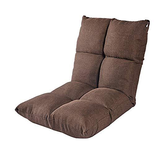 Garten Klappstühle Boden Stuhl Bett Computer Stuhl Rückenlehne Faul Einzel Kleines Sofa Klapp Schlafsaal Erker Boden Sofa (Farbe: BRAUN) -