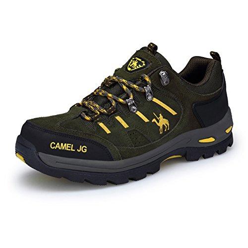 Da Gomnear Trekking Basse Top Trekking Uomini Scarpe All'aria Verde Aperta Camoscio E Da Scarpe Trekking Sneakers Dell'inverno Descalade fIf7q5wZxr