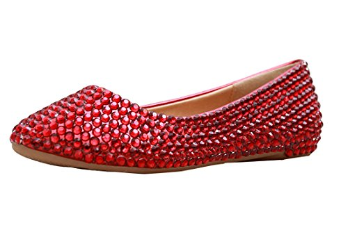 Kevin Fashion , Ballet femme Red/Crystal
