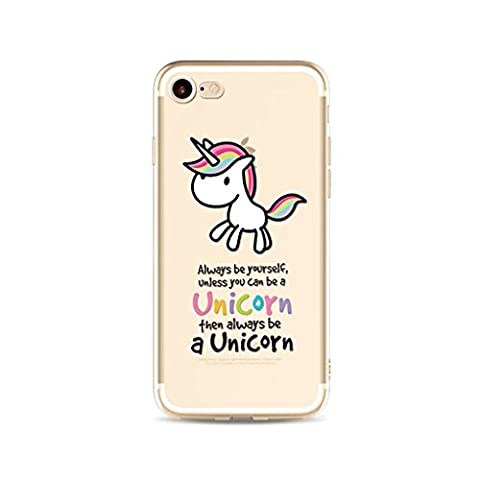 iPhone 6/6S MUTOUREN case cover?Gel Case flexible anti-shock soft crystal clear Silicone Case Scratch Resistant shockproof shell-unicorn