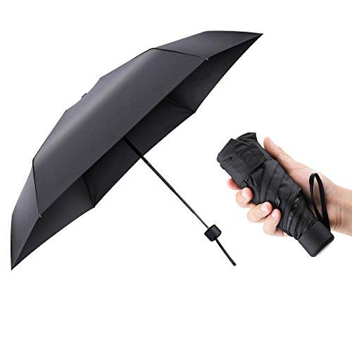 Mini Parapluie de Poche Parapluie, AMBOTHER UV Parapluie Pliant Parapluie de Voyage Parapluie de...