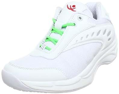 Chung Shi AuBioRiG Balance Step Sport weiß mit neongrünen Schuhbändern 9100292, Damen Walkingschuhe, Weiß (weiß/neongrün), EU 38 (UK 5)