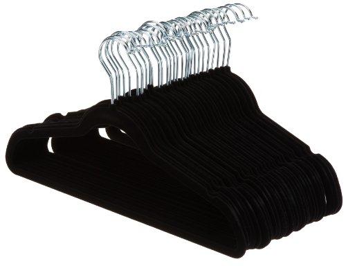 Kostüm Erwachsene Für Plus Shirt - AmazonBasics Kleiderbügel für Anzug / Kostüm, mit Samt überzogen, 30er-Pack, Schwarz