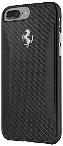 ferrari-ferchcp7lbk-duro-custodia-per-apple-iphone-7-plus-carbon-fiber-in-alluminio-spazzolato-nero