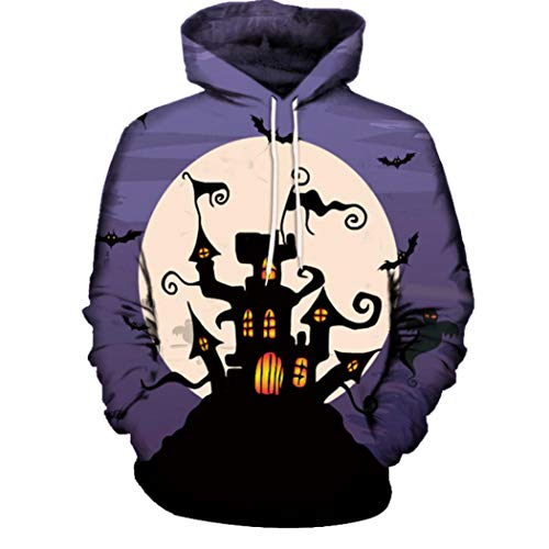 Kanpola Halloween Kostüm Herren Damen 3D Druck Hoodie -