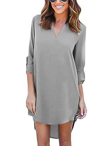 isassy-chemisier-femme-manches-3-4-en-mousseline-de-soie-robe-chemise-tunique-blouse-fluide-chic-gri
