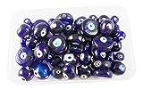 #6: eshoppee 50 pcs, 10-18mm,Glass Eye Beads, Nazar suraksha kawach Evil Eye Remover Bead for Jewellery Making Art and Craft DIY do it Yourself kit.