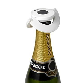 Ad Hoc FV32–Sekt- und Champagnerverschluss GUSTO weiß, Kunststoff/Silikon, Ø 8,2cm)