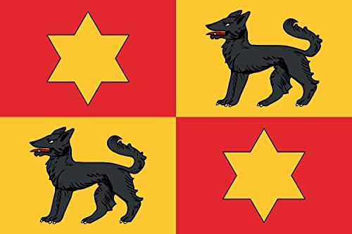 magFlags Flagge: Large Personal de Blas de Lezo   Basada en EL Escudo de Armas de Blas de Lezo   Querformat Fahne   1.35m²   90x150cm » Fahne 100% Made in Germany
