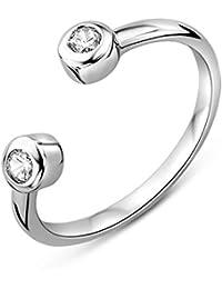 Miore Damen Sterling Silber (925) Designer Ring mit Brillantschliff Zirkonia
