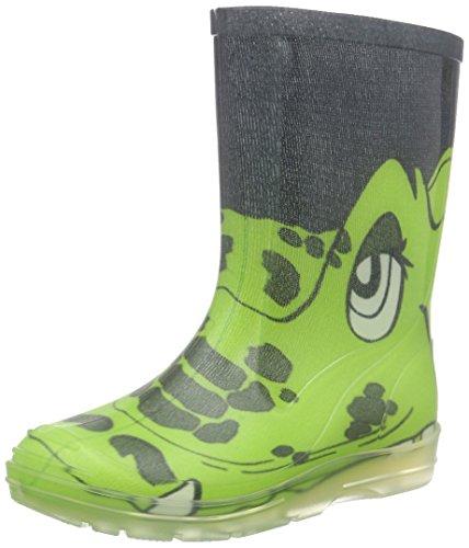 Beck Croco, Unisex-Kinder Kurzschaft Schlupfstiefel, Grün (22), 25 - Stiefel Schuhe Kind Mädchen