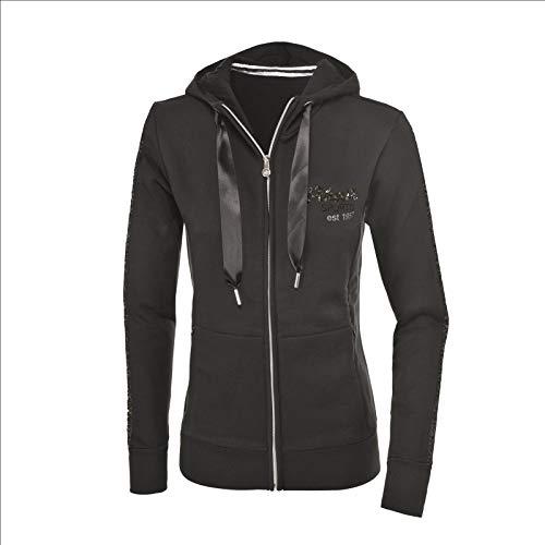 Rv-damen-sweatshirt (Pikeur Damen Sweatshirt Jacke Amila, Black, 42)