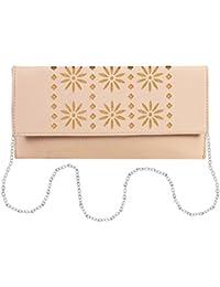 EMOSHA PU Leather Off-White Sling Bag
