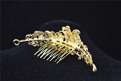 Corona Cristal Rhinestone Mariposa Boda Diadema Nupcial Tiara De Oro