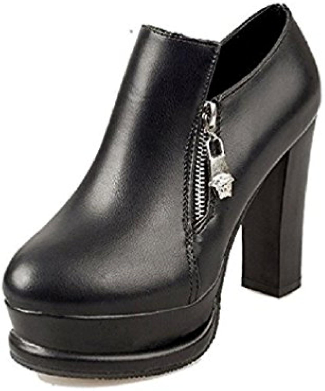 Zapatos de Mujer - tacón - Cremallera - LCF-054 -