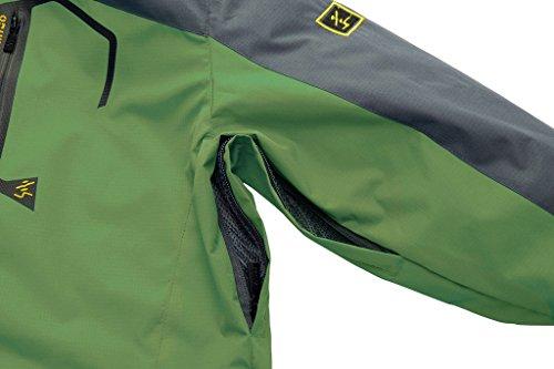 Wantdo Herren Wasserdicht Wanderjacke Winddicht Skijacke mit Fleecefutter Grün