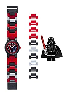 LEGO Star Wars 8020301 Darth Vader Kids Buildable Watch with Link Bracelet and Minifigure   black/red   plastic   25mm case diameter  analogue quartz   boy girl   official (B00385WYZS)   Amazon Products
