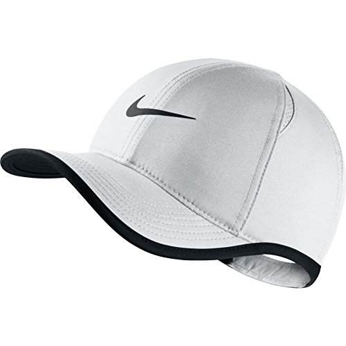 Nike Kinder AeroBill Featherlight Schirmmütze, White Black, One Size