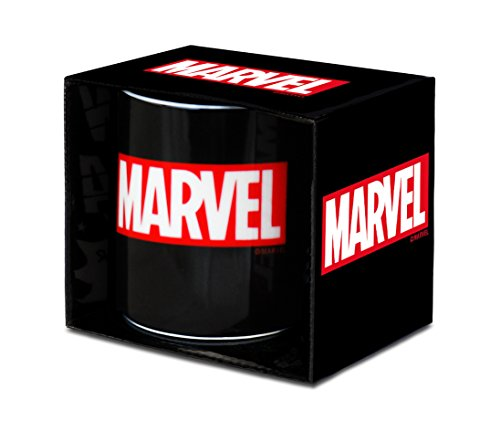 Marvel 6831646000 Tazza, Porcellana, Nero, 8 x 8 x 9 cm