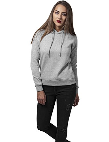 Urban Classics TB1524 Damen Kapuzenpullover Ladies Hoodie Grau (grey 111)