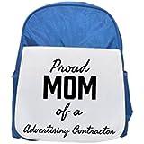 Orgullosa mamá de un publicidad Contratista impreso Kid s azul mochila, para mochilas,