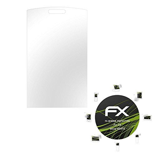 atFolix Displayfolie für LG Shine KE970 Spiegelfolie, Spiegeleffekt FX Schutzfolie
