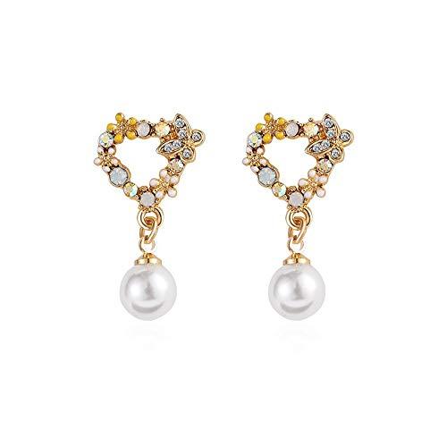 E-Z Stilvolle Einfachheit Geschenkidee für Frauen Personalisierte Einfache S925 Reines Silber Anti-Allergie-Temperament Blütenblatt Ohrschrauben Mädchen Temperament Ohrringe Schmuck -