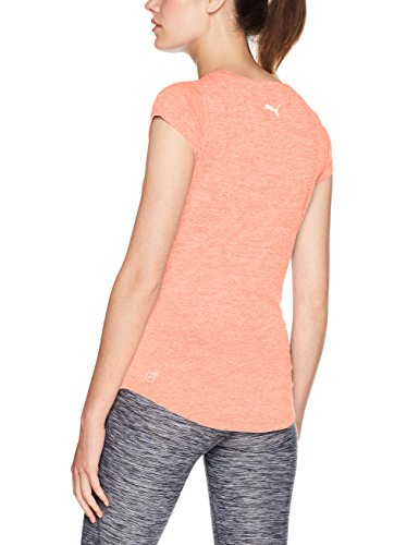 Puma Damen Heather Cat Tee T-Shirt, Nrgy Peach Heather nrgy peach heather