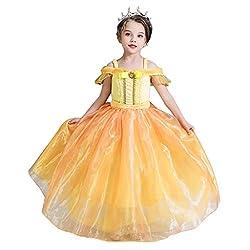 Yanhoo Karneval Baby Kinder MäDchen Kurzarm Dress TräGerlosen TüLl Prinzessin Dress Party Prom Dress Party Cosplay KostüM Kleidung