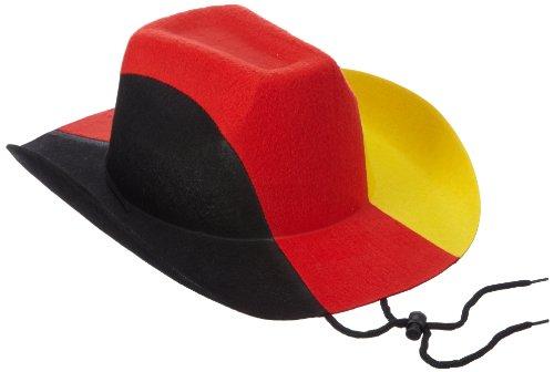 Cowboy Schwarz Erwachsene Hut (Idena 950783 - Cowboy Hut Deutschland Universalgröße, schwarz / rot /)