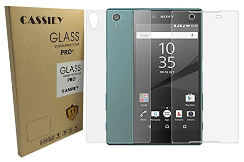 Sony Xperia Z5 Premium / Sony Xperia Z5 Premium Dual :CASSIEY Front & Back Amazing PRO+ 0.3 mm 2.5D 9H Hardness Anti-Explosion Tempered Glass Phone Screen Protector For Sony Xperia Z5 Premium / Sony Xperia Z5 Premium Dual- Front & Back Retail Packaging - Transparent With all Finger Print Sensor , Light Sensor , Camera Cutting and Installation Kit with Advanced Dust Remover