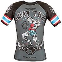 Dirty Ray Artes Marciales Muay Thai camiseta rashguard hombre RG10 (M)