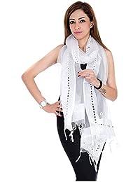 Fashion Store Tissue Mirror Work Party Wear Dupatta,chunni,stole,scarves(Length:99 Inch)
