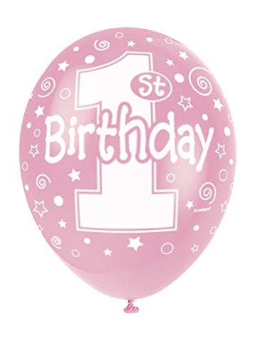 s 5 x Luftballons mit Perlglanzeffekt aus Latex, 30cm, für den ersten Geburtstag ()