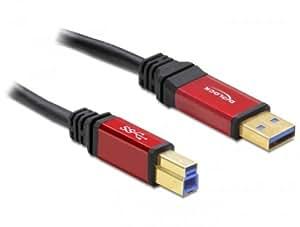 DELOCK Kabel USB 3.0 rot A-B St/St 3.0m