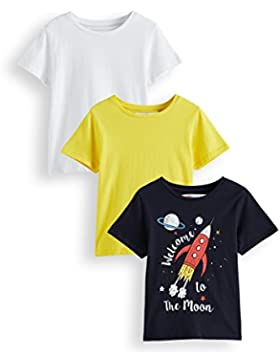 RED WAGON Camiseta Print Niños, Pack de 3