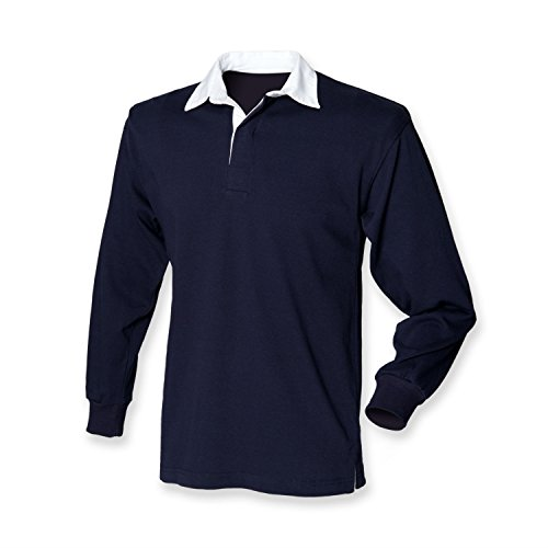 Front Row Langarm Rugby Shirt, Navy, Gr.XL