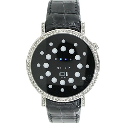 Thumbs Up! 32 blue LED with Rhinestones and Steel Case BINORS502B1 – Reloj de pulsera unisex