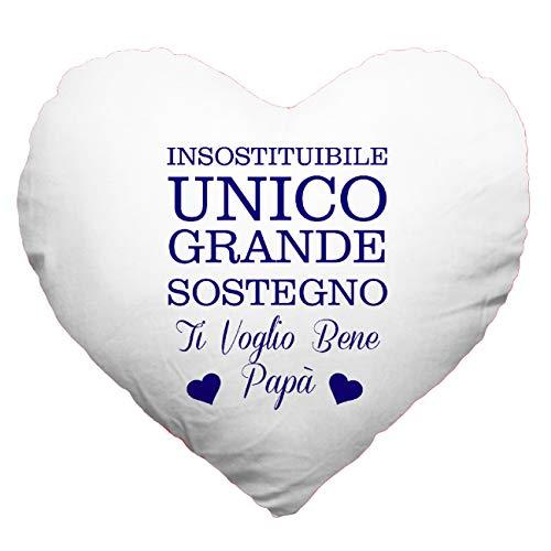 My custom style cuscino cuore full print microfibra 40#festa del papà unico#