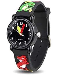 Hebey Kinderuhr, wasserdichte Quarz-Kinderuhr, die Armbanduhr für Jungen und Mädchen lehrt