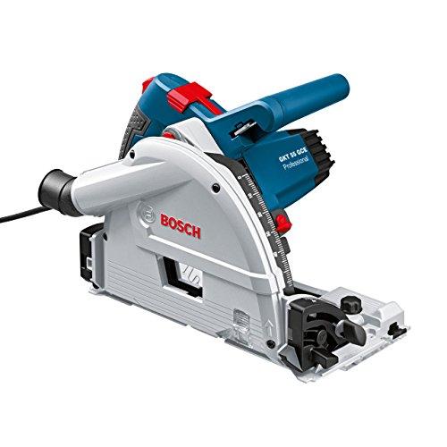Bosch Professional 0601675002 Scie plongeante GKT 55 GCE 1400 W L-BOXX + FSN 1600, Bleu (rail non inclus)
