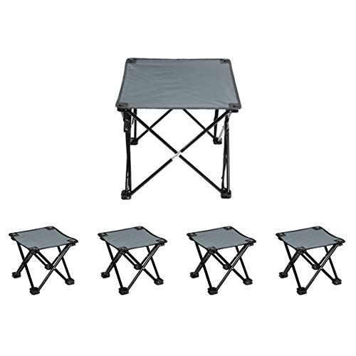 Tabouret pliant tabouret, table et chaise ensemble, 1 faites glisser 2, 1 faites glisser 4 / tabouret de camping / portable table pliante / meubles de camping ( Couleur : D , taille : 1 drag 4 )