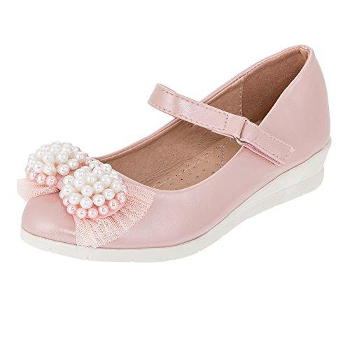 Hello Coccinelli Festliche Mädchen Ballerina Pumps Schuhe mit Keilabsatz M395rs Rosa 28