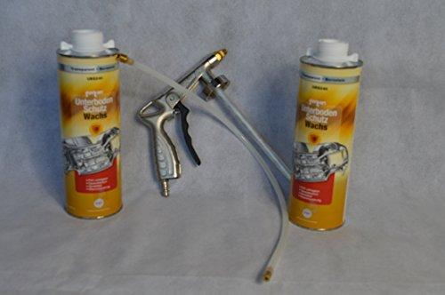 Set Fertan Druckluftpistole und 2 X UBS240 1L Unterbodenschutzwachs PKW LKW Unterboden Schutzwachs