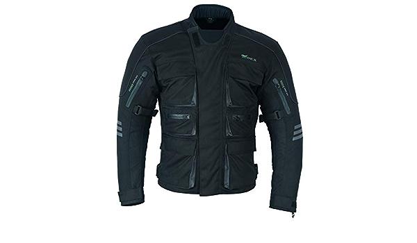Ridex Cj224 Motorradjacke Wasserdicht Belüftet Mit Herausnehmbarem Thermofutter Und Rüstung Gr M Schwarz Bekleidung