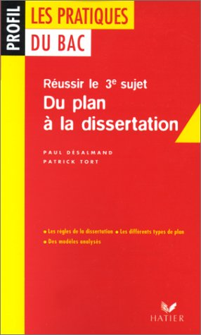 Les pratiques du Bac : du plan à la dissertation